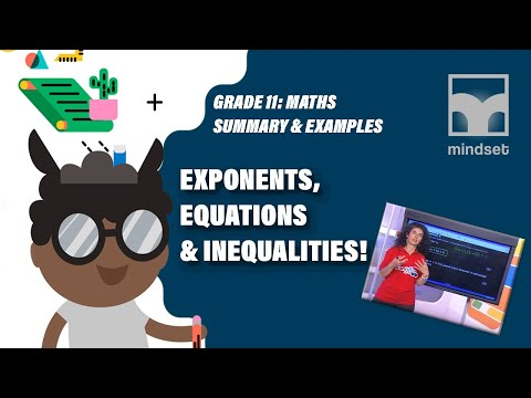 Grade 11 Maths: Exponents, Equations & Inequalities (Live)