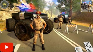 Monster Truck Driver - US Police Monster Truck Gangster Car Chase Games #2 - Android Gameplay screenshot 1