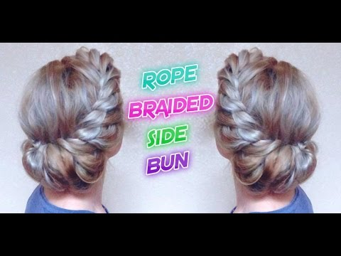 Wedding Hairstyle Rope Braided Side Bun Awesome Hairstyles Youtube