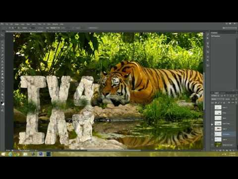 3D Rock text effect   Stone Text Effect   Nature Text Effect Photoshop CS6