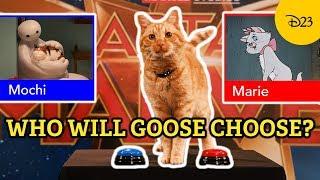 Captain Marvel's Goose the Cat Reveals His Disney Cat Favorites | Disney This or Cat
