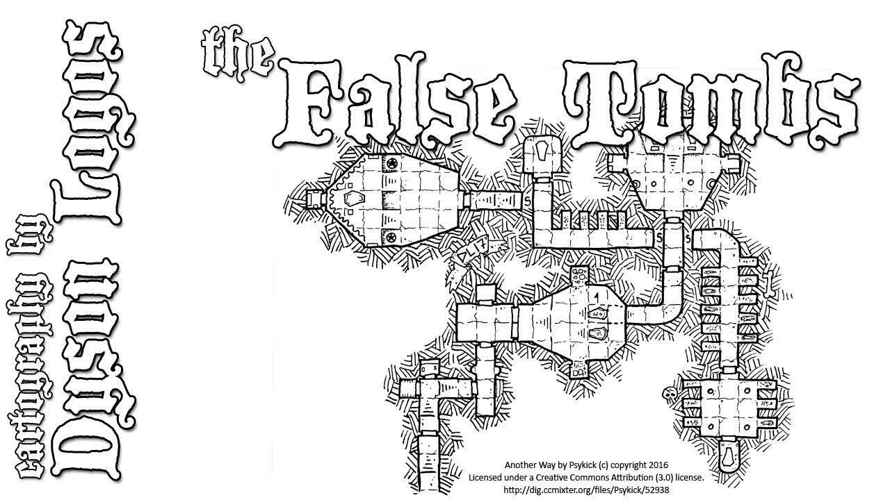 Hand-Drawn Dungeons & Dragons Map - The False Tombs