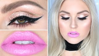 Drugstore & Affordable Makeup Tutorial ♡ Soft Glitter Cut Crease