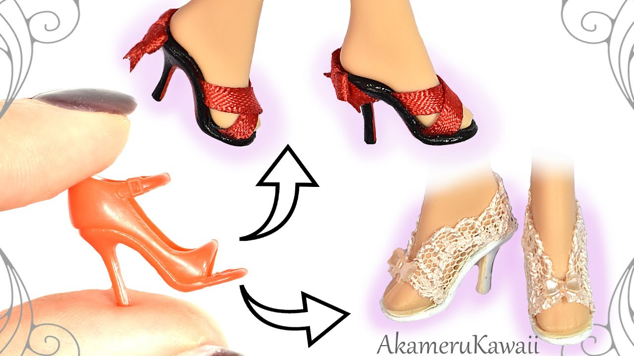 441e50384ea How to: Easy Barbie / Doll Shoes - Summer Mini Shoes Tutorial
