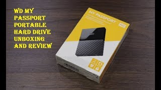 WD My Passport Portable Hard Drive Unboxing and Review
