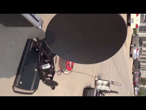 SinoAero 1.2m auto deploy carbon fiber antenna system assembling and satellite pointing