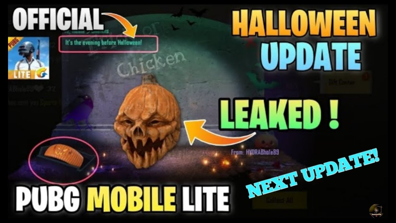 Pubg mobile Halloween update official leaks| pubg mobile lite latest update