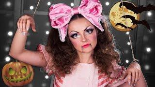 СТАЛА КУКЛОЙ на HALLOWEEN! / МАКИЯЖ МАРИОНЕТКА Хэллоуин / Make-up Tutorial Marionette Doll