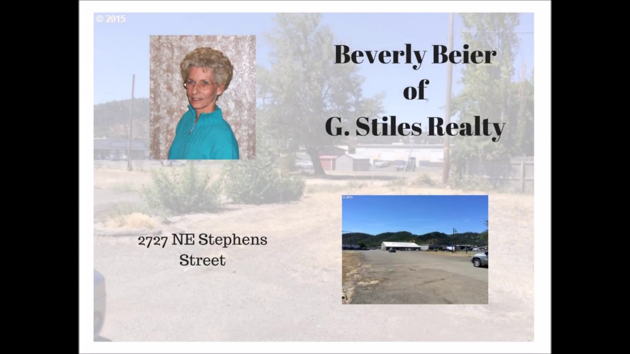 Beverly Beier - G Stiles Realty - (541) 672-1616 - NE Stephens St - MLS# 15187195
