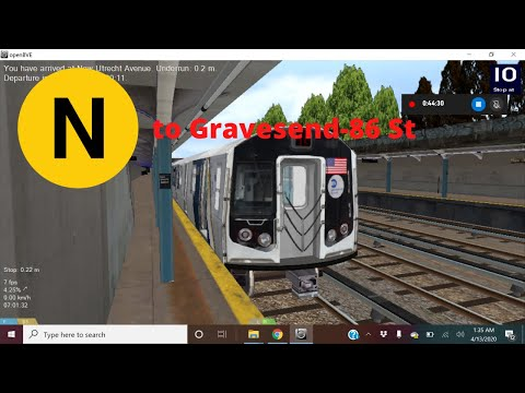 OpenBVE Special: The R160C Siemens (N) To Gravesend-86 St!
