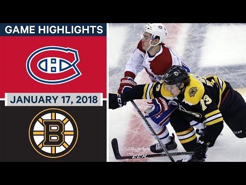 NHL Game Highlights | Canadiens vs Bruins —Jan. 17, 2018