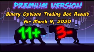 Binary Options Bot Trading Report for March 9, 2020 (11+ 3-) | Premium Version