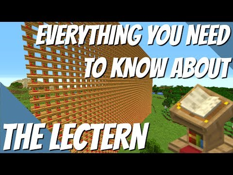 All You Need To Know About The Lectern In Minecraft Redstone Books Librarians And More Avomance 2 Youtube