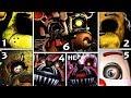 FNAF 1, 2, 3, 4, 5, 6 - ALL JUMPSCARES (Complete)