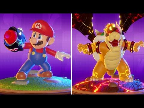 Mario + Rabbids Kingdom Battle - 100% Ending & Museum Showcase (Artwork + 3D Models)