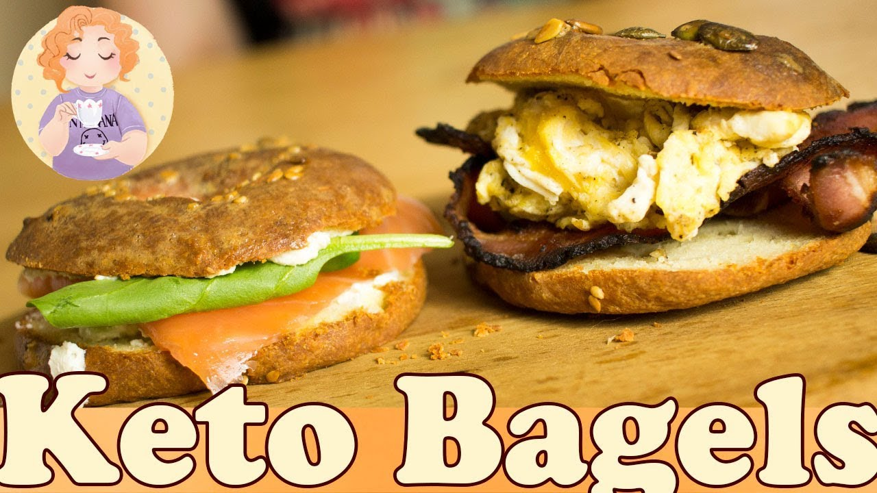 Keto Low Carb Bagels Recipe with Fathead Dough  Gluten Free
