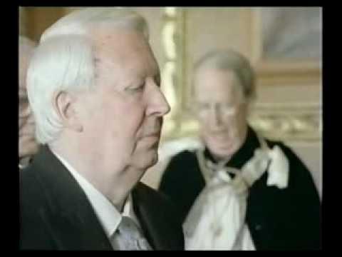 Queen Elizabeth II Investiture of Sir Edward Heath 1992