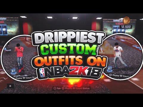 DRIPPIEST CUSTOM OUTFITS ON NBA 2K18🔥•DRESS LIKE A HYPE BEAST! BEST CUSTOM SHOES IN NBA 2K18😱🈂