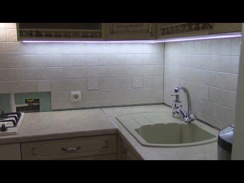 14# Светодиодная подсветка кухни! Врезной Светопрозрачный Профиль! Led подсветка! #кухнямоеймечты