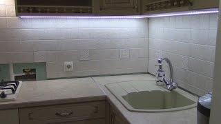 14# Светодиодная подсветка кухни! Врезной Светопрозрачный Профиль! Led подсветка! #кухнямоеймечты(, 2017-03-31T14:00:01.000Z)