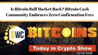 Is Bitcoin Bull Market Back? Bitcoin Cash Community Embraces Zero Confirmation Fees