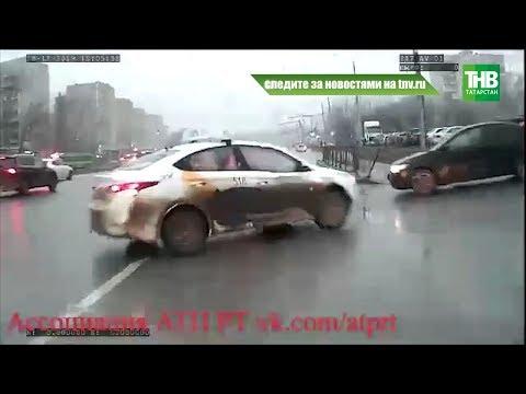 Водитель такси подрезал казанский автобус | ТНВ