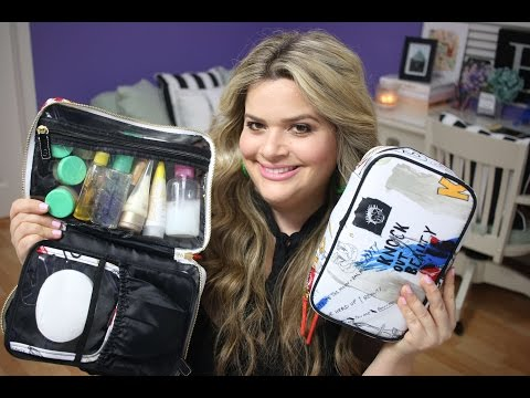 Pack with Me (July 2016): What's in My Travel Makeup Bag? / Makeup and Toiletries in My Carry On