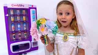 Nastya pretend play with vending machine