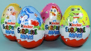 Kinder Surprise Maxi Easter Eggs Chick Rock Band and Barbie Toys