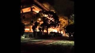 Incêndio no TRT de Goiás