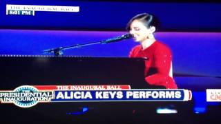 Alicia Keys - Obama Is On Fire Performance 2013 Commander in Chief Inauguration Ball (HD Quality)