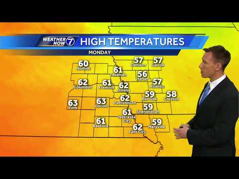 Breezy and warmer Monday, colder midweek