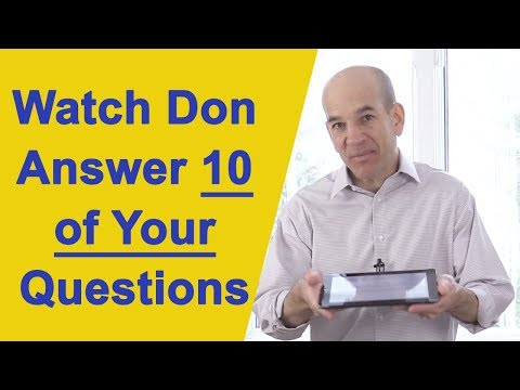 Don Answers YOUR Interview Questions LIVE