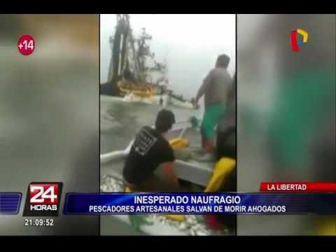 Pescadores de Puerto Malabrigo se salvan de morir al hundirse bote