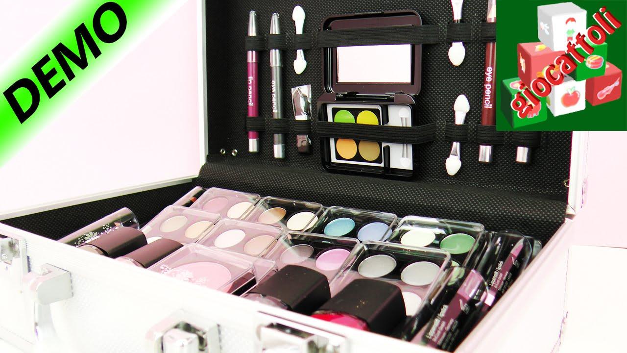 Favoloso Valigia di trucchi per ragazze: Make Up professionale direttamente  EE19