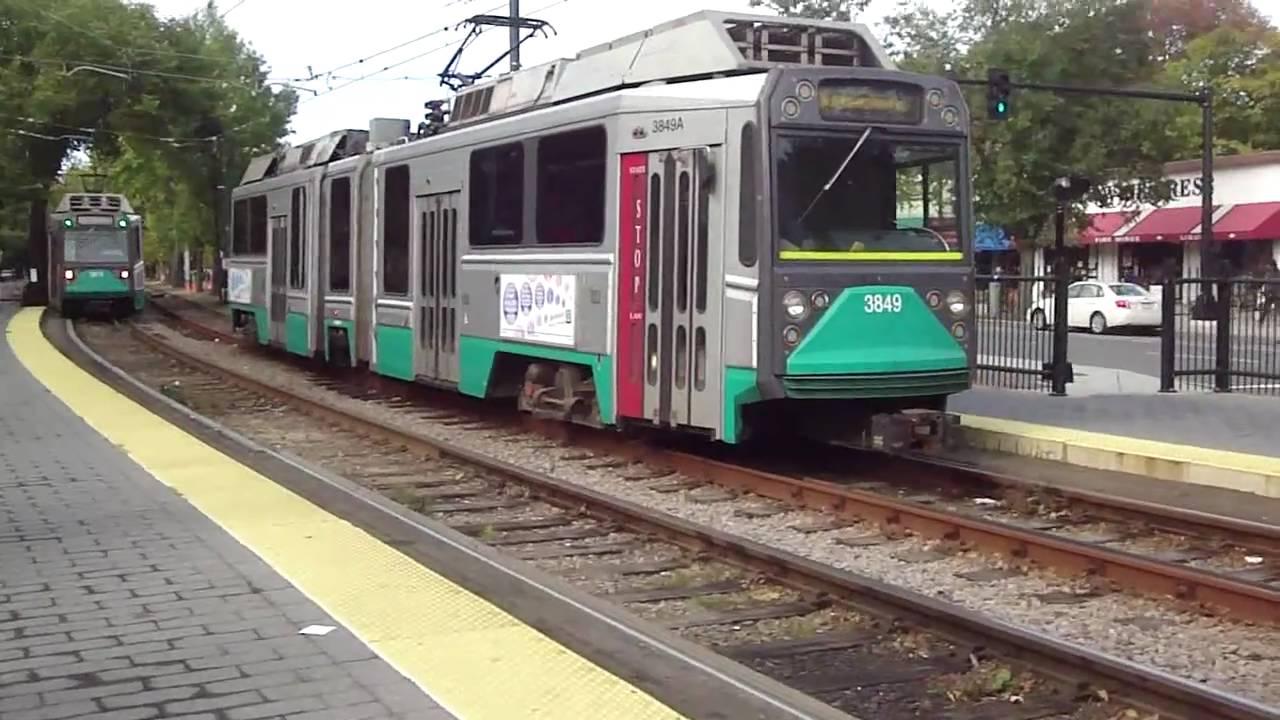Light Rail (Green Line) in Boston - YouTube