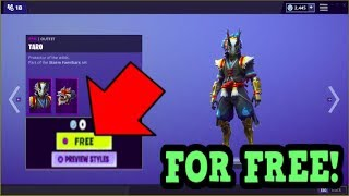 HOW TO GET TARO SKIN FOR FREE! (Fortnite Old Skins)