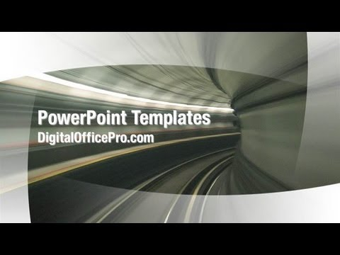 train tunnel powerpoint template backgrounds