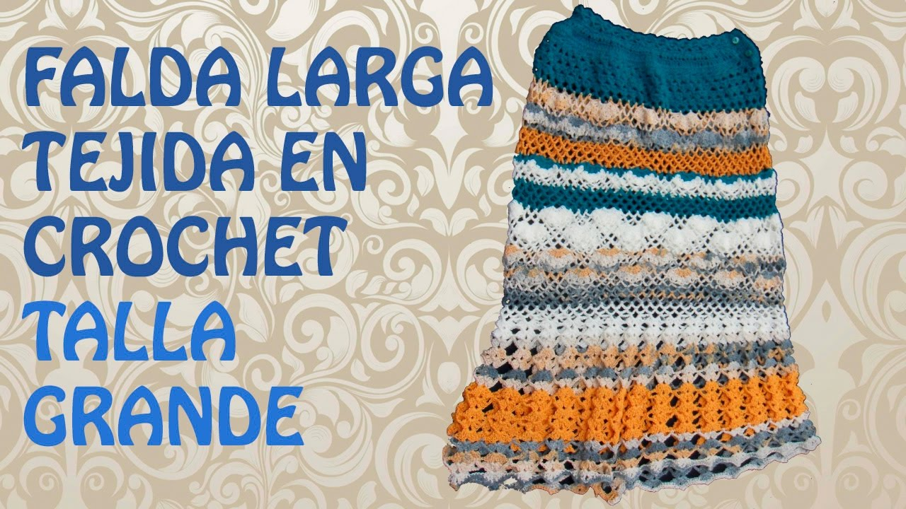 Tejiendo una Falda Larga a Crochet - YouTube