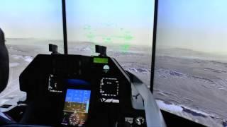 Indo Def 2016: Inside Lockheed Martin F-16V Falcon simulator