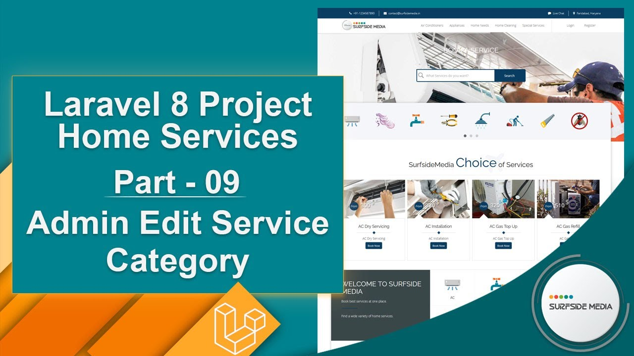 Laravel 8 Project Home Services - Admin Edit Service Category