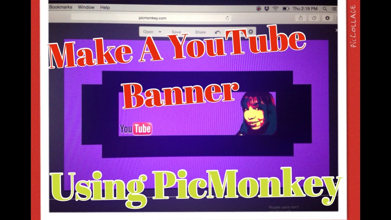 how to make a youtube banner with picmonkey