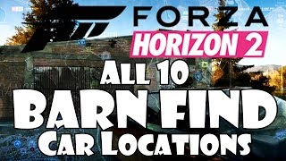 Forza Horizon 2 All Barn Finds Rare Cars Locations Where To Find walkthrough guide