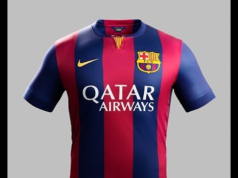 9b68a85cb FC Barcelona home kit (Seasson 2014 15) -  CraftedToWin - YouTube