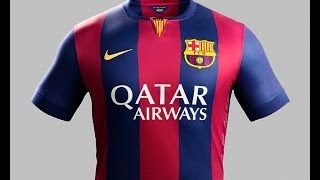 "Nike and fc barcelona unveil the 2014-15 home kit under motto ""crafted to win"". celebrates return of original blaugrana for 2014..."