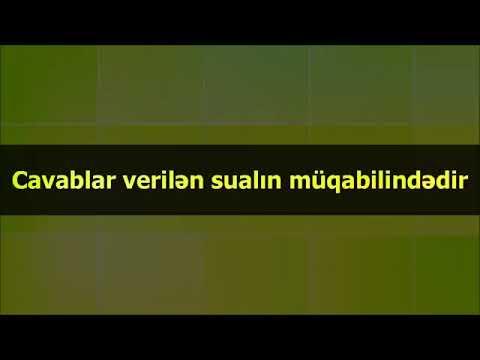 Abu Zeyd׃ Cavablar verilən sualın müqabilindədir. sona qeder dinleyin
