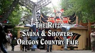 The Ritz Showers and Sauna at the Oregon Country Fair.