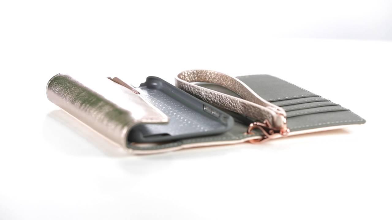 best sneakers d8f96 adb68 iPhone 8/7 Case-mate Rose Gold Leather Wristlet Folio case