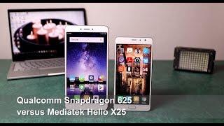 Qualcomm Snapdragon 625 versus Mediatek Helio X25