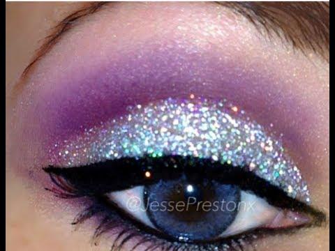 Voiceover Tag: Silver Glitter Purple Makeup w/ xprincessjessex ...